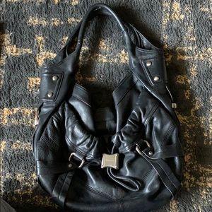 B. Makowsky Premium leather shoulder bag